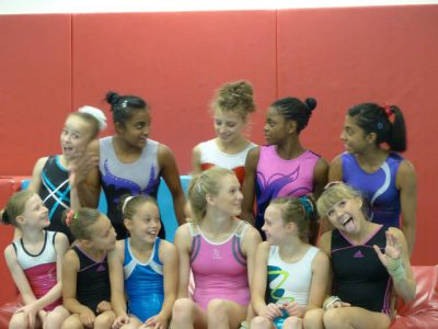 group of gymnastics girls