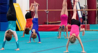 gymnasts handstands