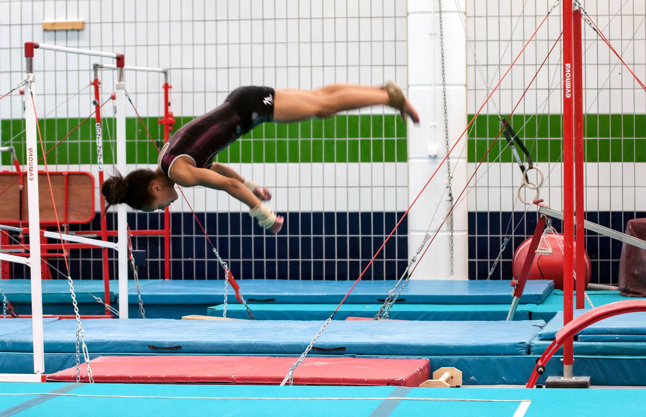 female gymnast tumbling CMIG