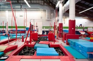 CMIG Main Gym trampoline and pits