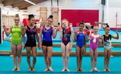 CMIG gymnasts saluting funny