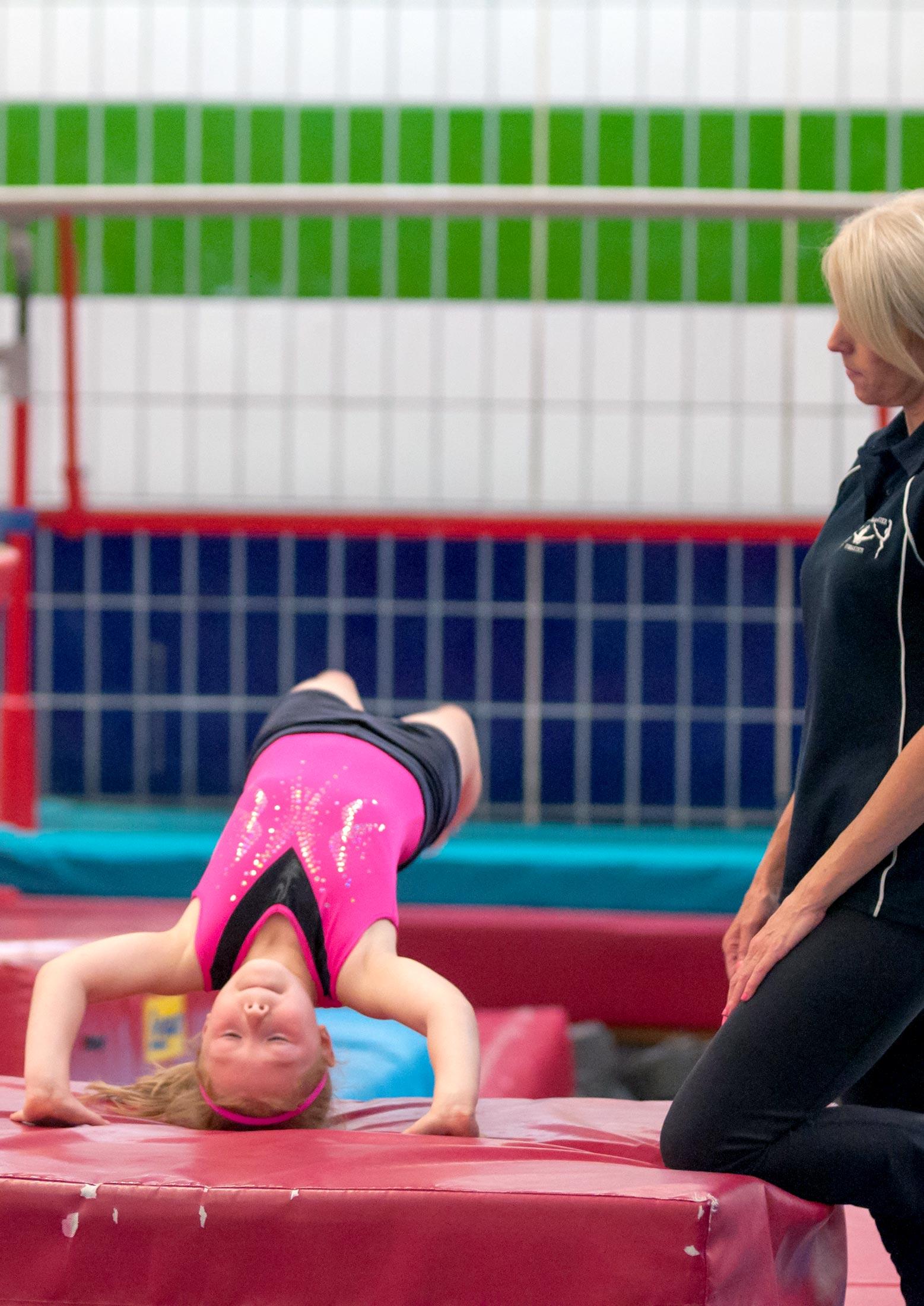gymnast headspring