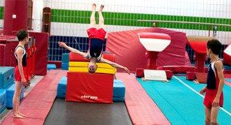 gymnast upside down