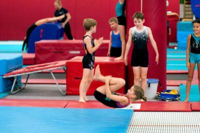 gymnast tumbling