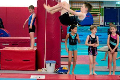gymnast somersault