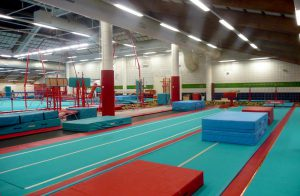 CMIG Main Gym vault lanes and crash mats
