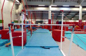CMIG Main Gym Arena asymmetric bars