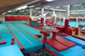 CMIG Main Gym rear of vault lanes