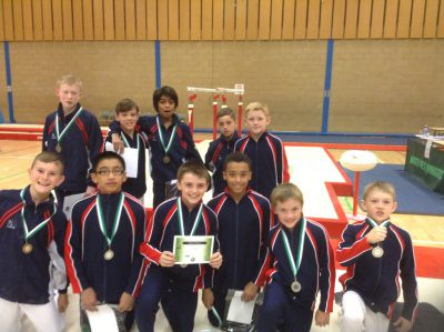 gymnasts with medals